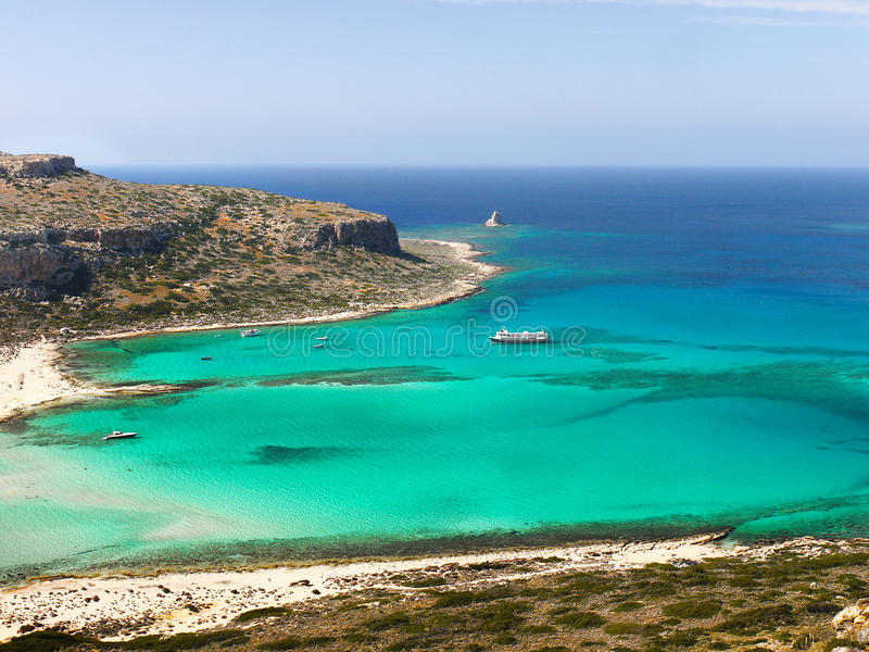 Balos Beach, Crete Island, Greece stock photography