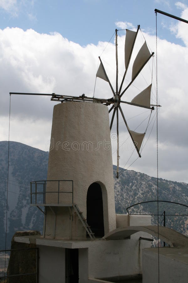 Crete windmill royalty free stock photography