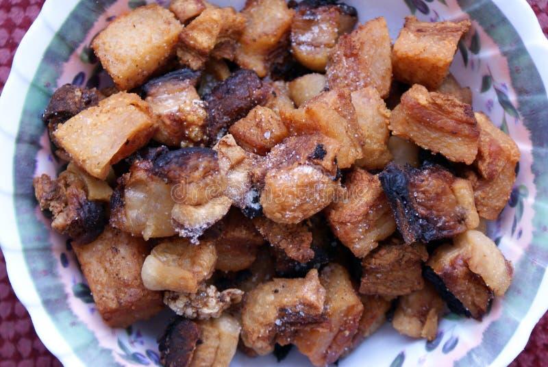 Cretons rôtis de porc images stock