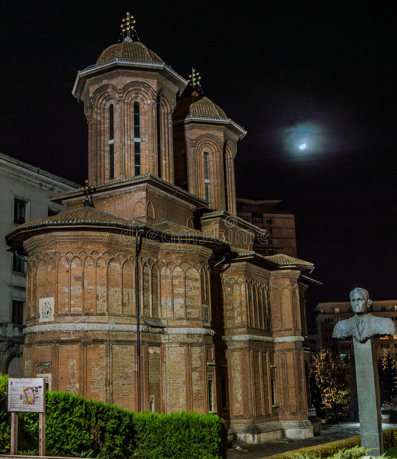 Cretulescu kościół, Bucharest fotografia royalty free