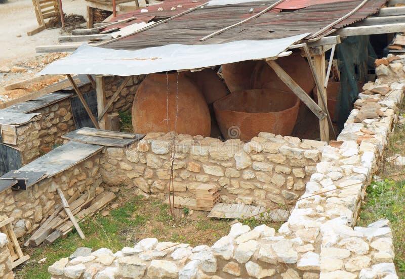 Creusant dans le site archéologique de Stobi, Ohrid images libres de droits
