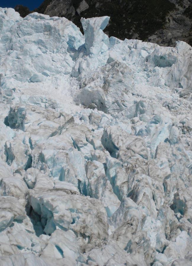 Crevasses dans la glace chez Franz Joseph Glacier, Nouvelle-Zélande photos stock