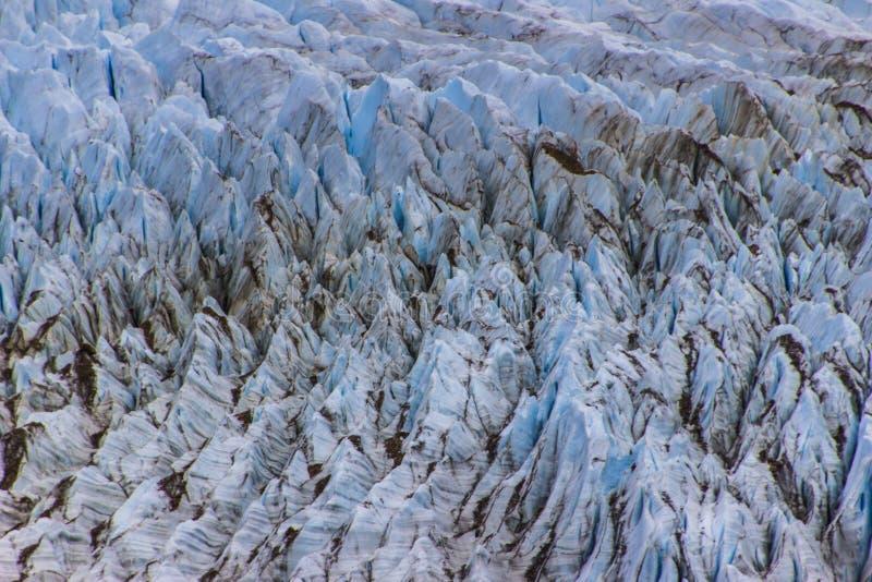 Crevasses przy Cerro Torre lodowem wśrodku lodowów parki narodowi, Argentyna obrazy stock