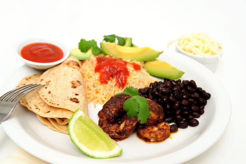 Crevette épicée pour le Tacos image stock