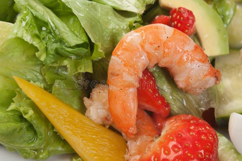 Crevette avec des légumes photos libres de droits