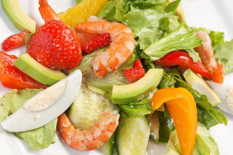 Crevette et légumes images stock