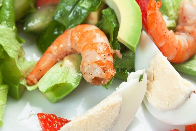Crevette et légumes photos stock