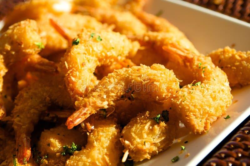 Crevette frite fraîche délicieuse photo libre de droits
