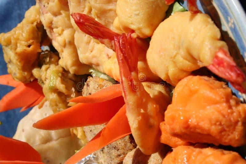 Crevette rose Pakora image stock