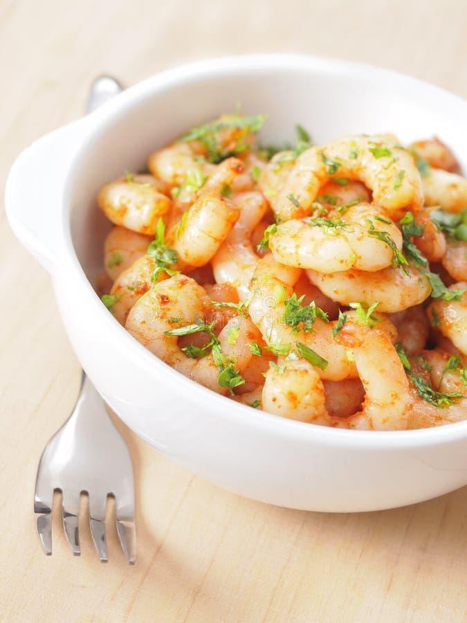 Crevettes épicées photographie stock
