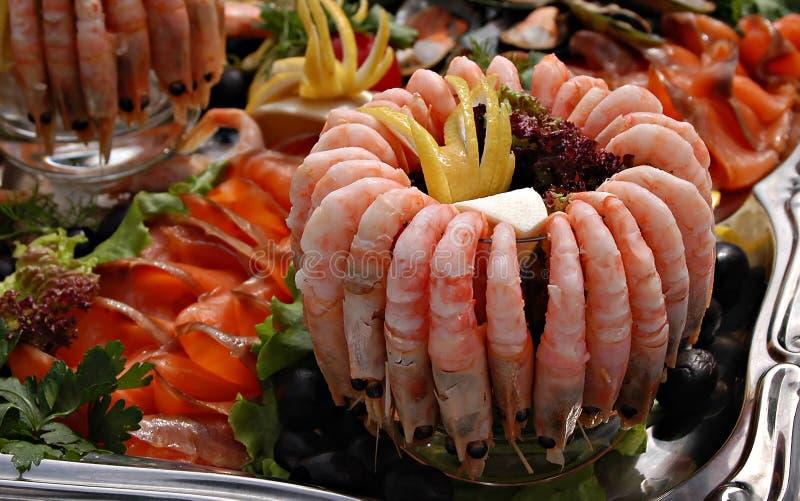 Crevettes et conception. images stock