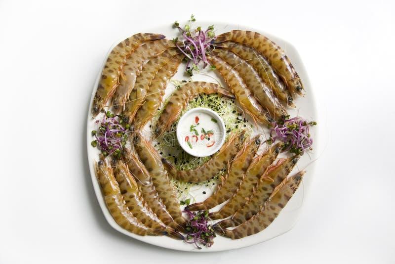 Crevettes roses de tigre images stock