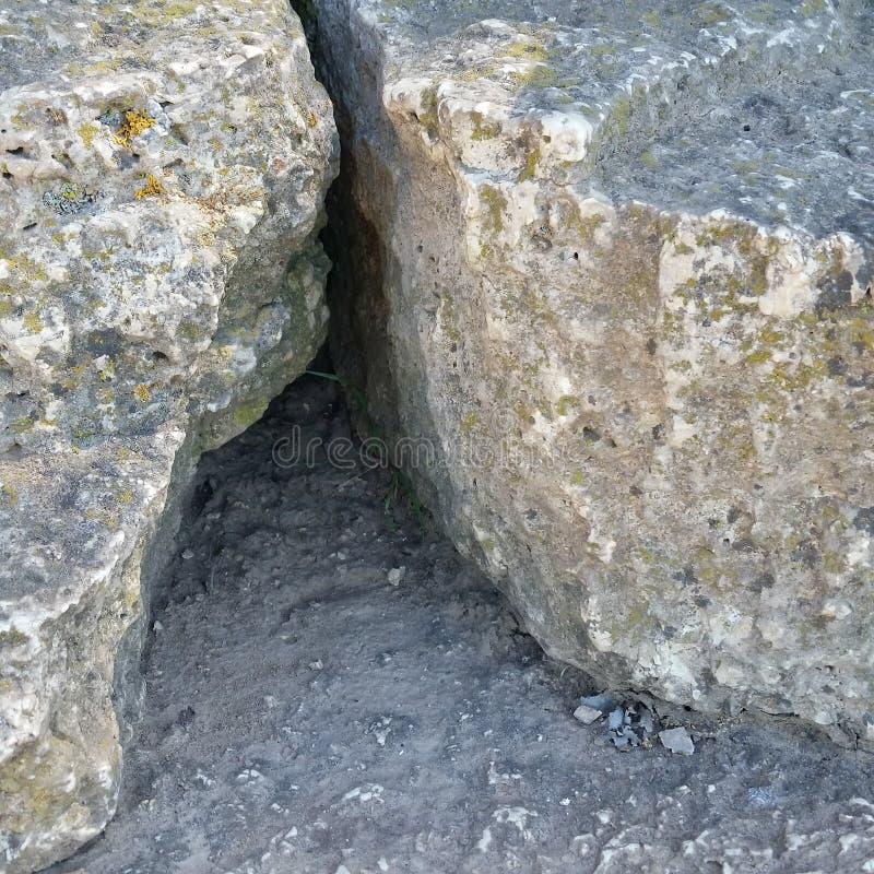 Crevice утеса стоковая фотография rf