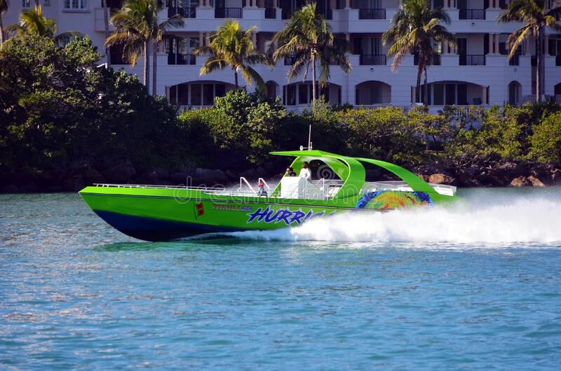 High speed sightseeing boat royalty free stock images