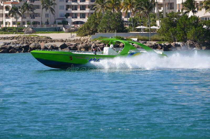 High speed sightseeing boat royalty free stock photo