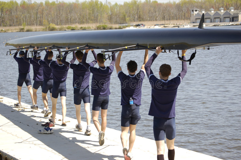 Download Crew Prepares stock photo. Image of boat, sculling, muscular - 872014