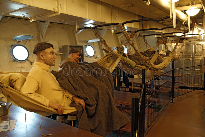 Crew sleeping quarters stock image