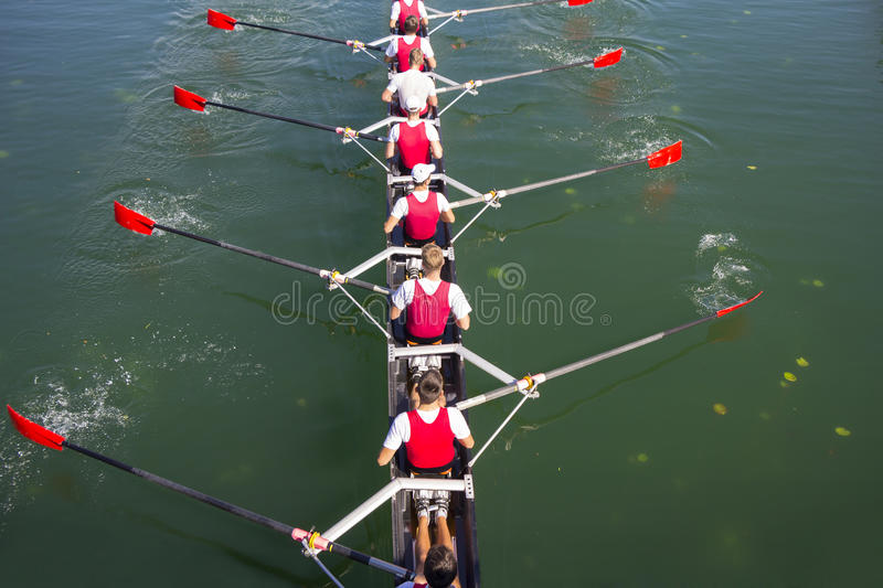 Crew Team in Competition stock photography