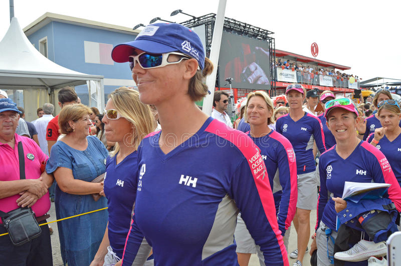 The Crew Of Team SCA, Volvo Ocean Race royalty free stock photography