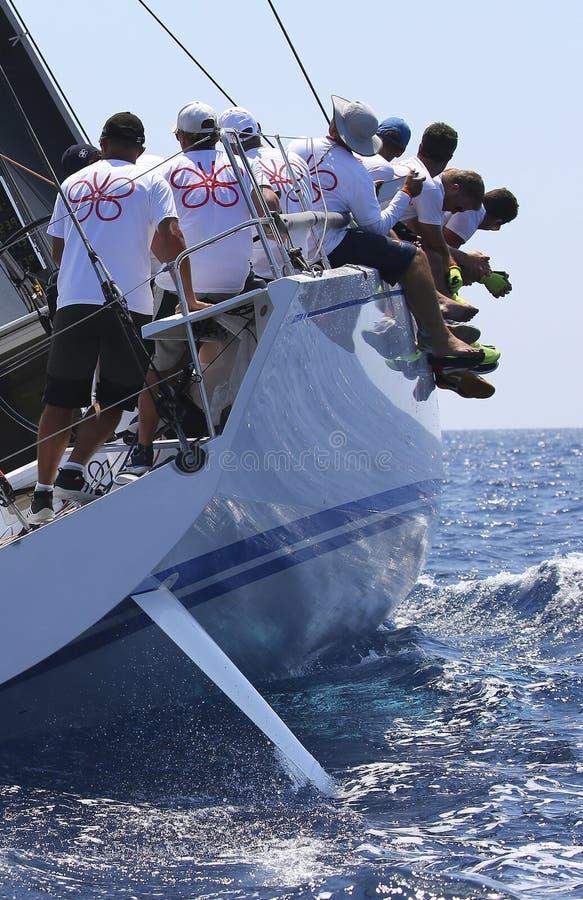 Free Crew Teamwork During Sailing Regatta Royalty Free Stock Image - 123418376