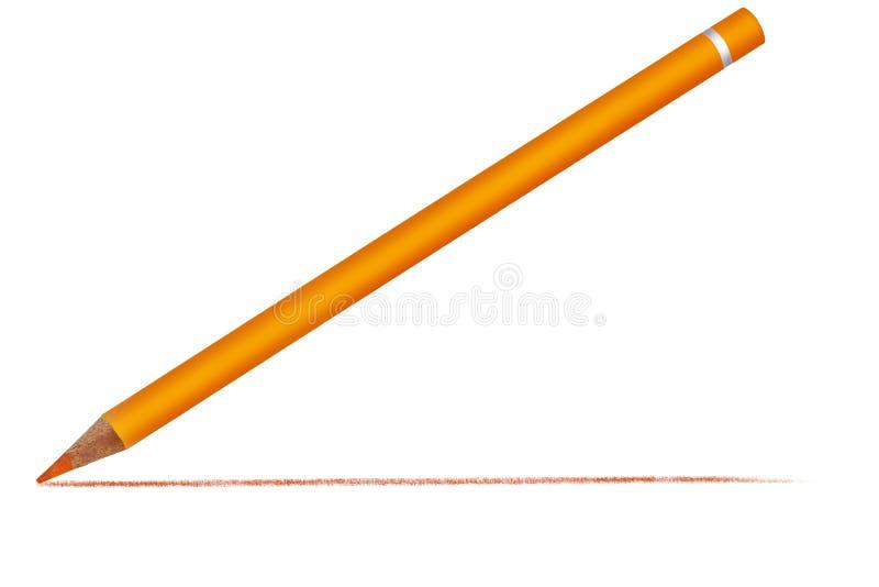 Creyón con la línea exhausta ilustración del vector