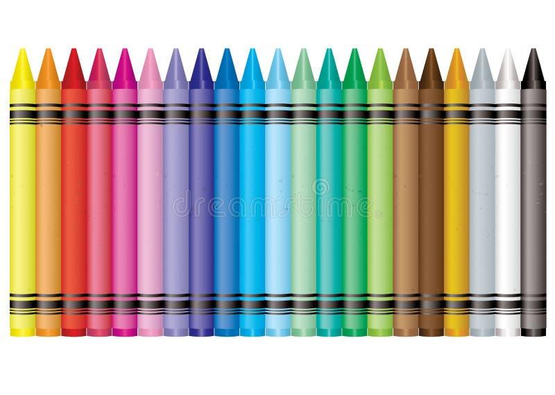 Creyón del arco iris ilustración del vector