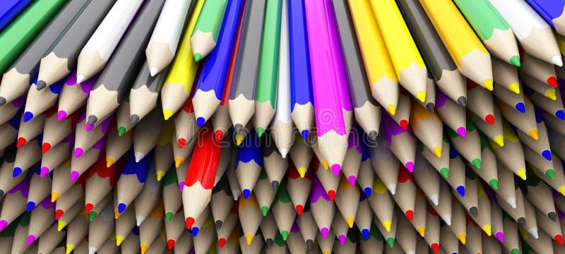 Creyones coloreados del lápiz libre illustration