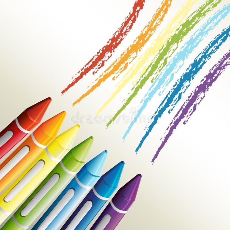 Creyones coloridos ilustración del vector
