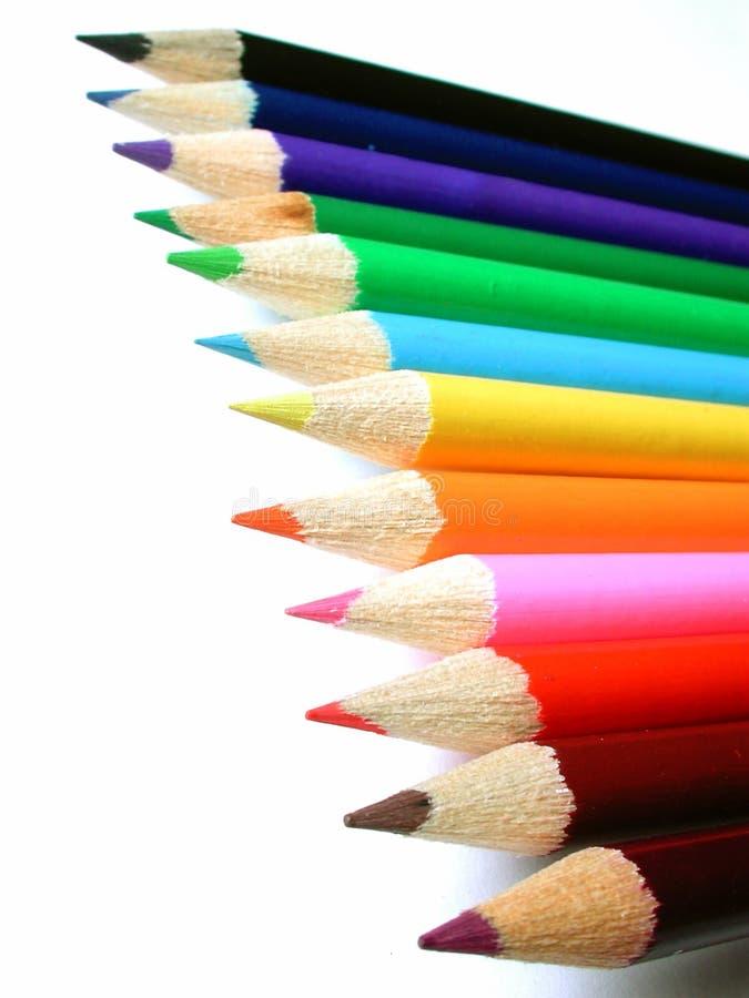 Creyones del lápiz imagen de archivo