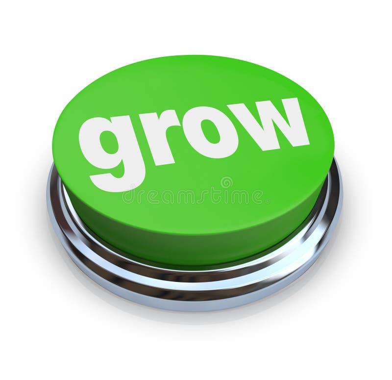Crezca el botón - verde ilustración del vector