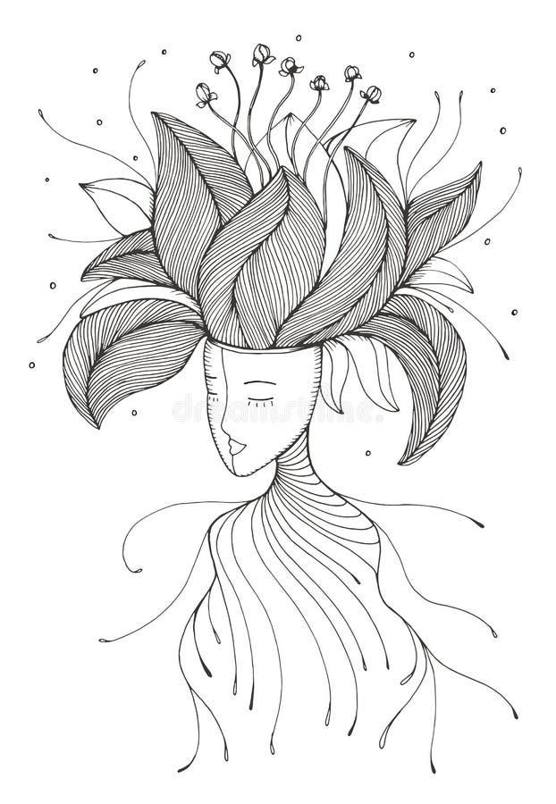 Crezca las ideas de las líneas creativas ejemplo del vector de la mente libre illustration