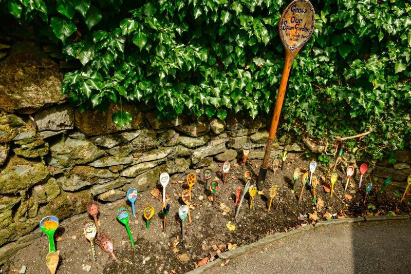 Crezca nuestro jardín de la cuchara, Grasmere Reino Unido fotografía de archivo libre de regalías