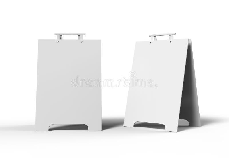 Crezon o i pettorali pubblicitari della Un-struttura del PVC per derisione di progettazione aumenta e la presentazione 3d in bian illustrazione di stock