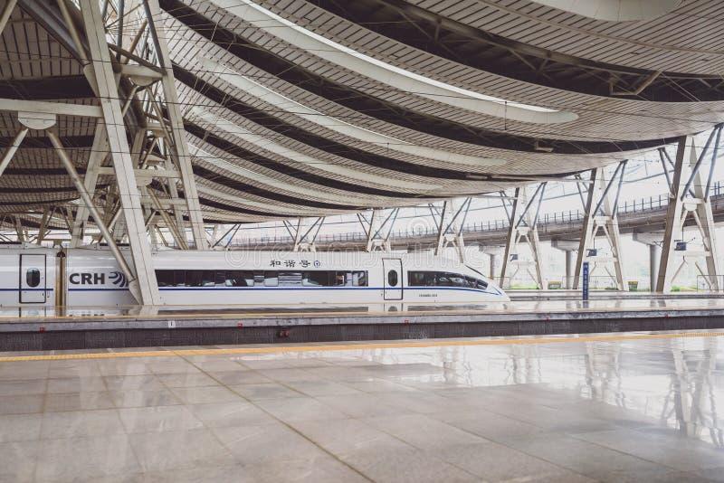 CRH380高速火车 库存照片