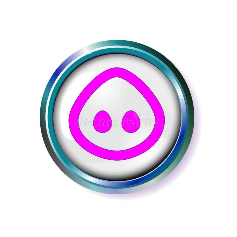 Cri aigu de porc de bouton Museau de porc, nez de museau Illustration de vecteur illustration libre de droits