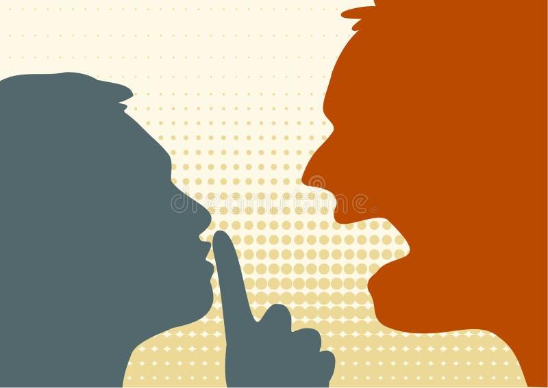 Cri et silence illustration stock