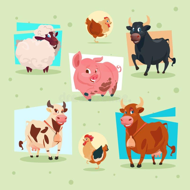 Download Criação De Animais Da Exploração Agrícola Do ícone Dos Animais Domésticos Ilustração do Vetor - Ilustração de terra, produzir: 80100376