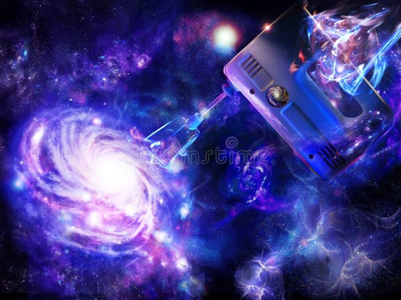 Criação de uma galáxia espiral ilustração stock