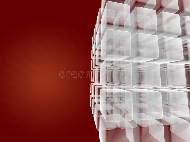 Criação do cubo do negócio ilustração do vetor