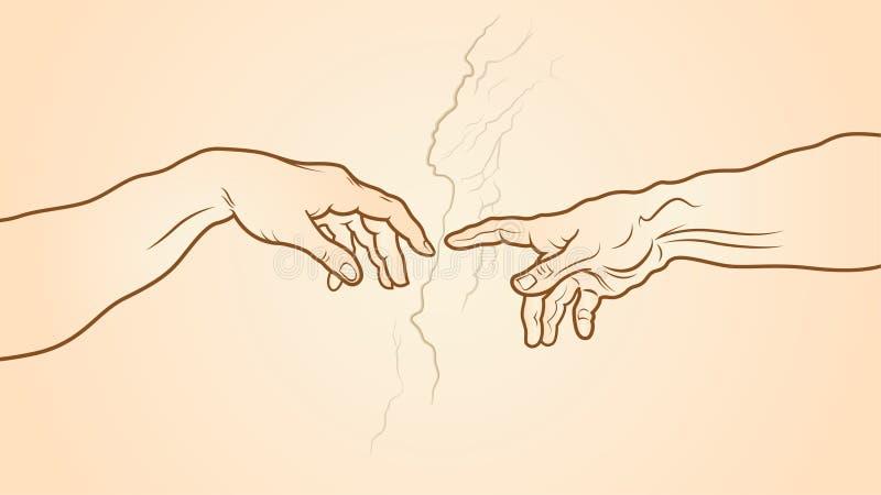 A criação do fragmento de Adam ilustração royalty free