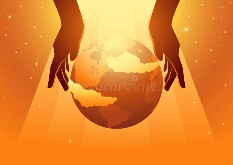 A criação do mundo ilustração do vetor
