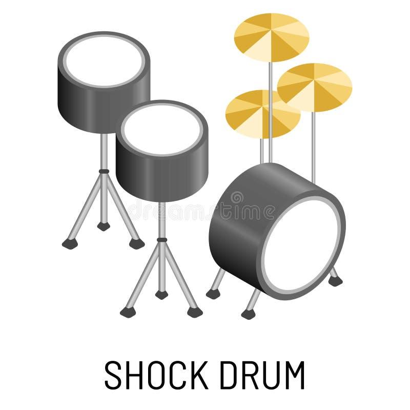 Criação isolada cilindro da música da percussão do instrumento musical de choque ilustração stock