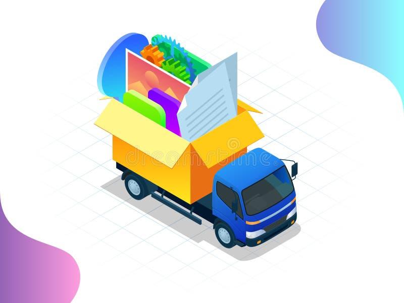 Criação isométrica do design web para o local Web site sob a construção, processo de construção do página da web, disposição de f ilustração do vetor