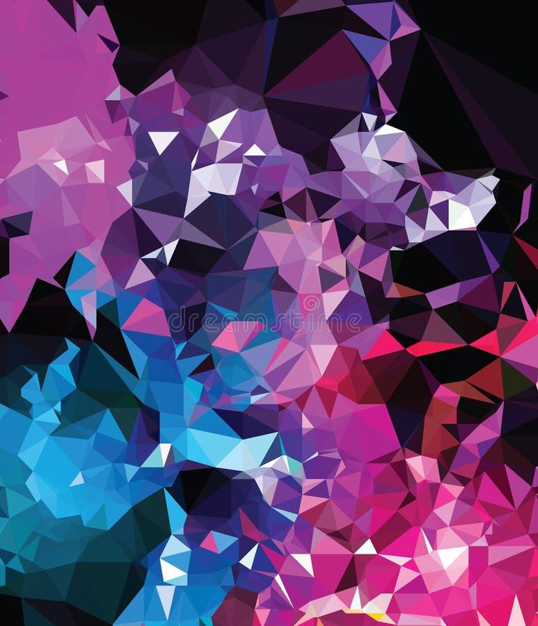 Criação moderna da arte abstrato da geometria do triângulo da textura do fundo ilustração stock
