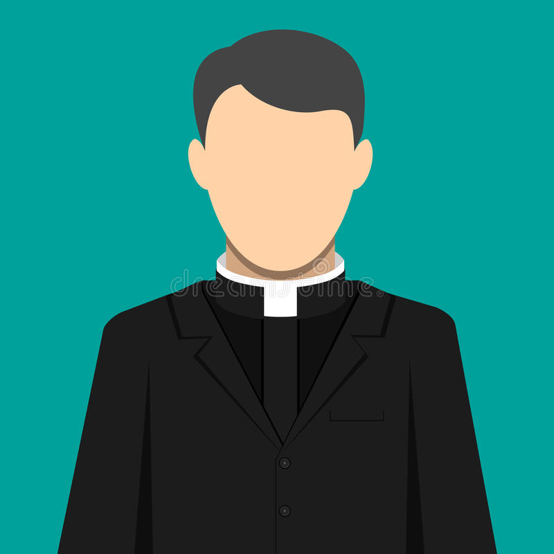 Criado de Pastor del sacerdote católico de dios en sotana libre illustration