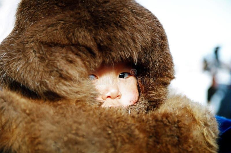 Criador del reno del muchacho imagen de archivo libre de regalías