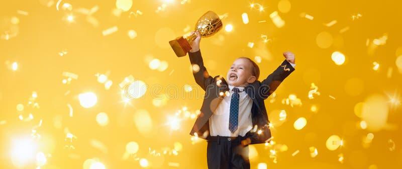 A criança é vencedor fotos de stock royalty free