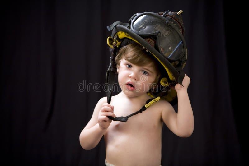 Criança 1 do sapador-bombeiro imagens de stock royalty free