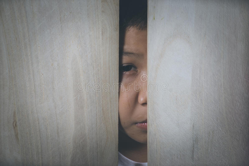 Criança abusada foto de stock