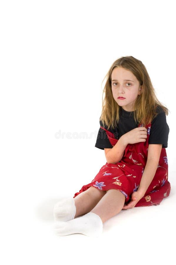 Criança abusada imagem de stock